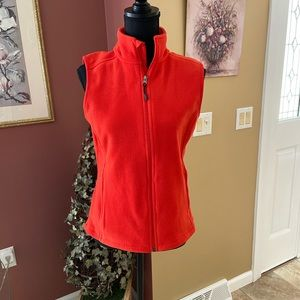 Orange Fleece Vest